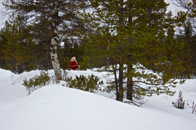 I love this shot of Santa walking in the distance!