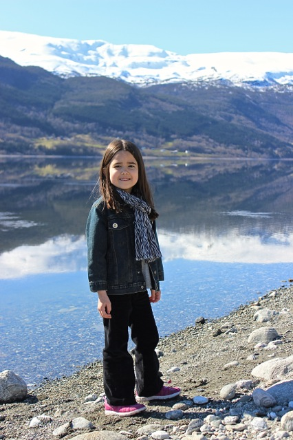 One last shot of Mia with the beautiful lake! I think she could have easily spent all day here!