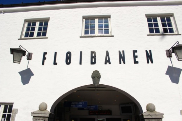 This is the entrance to the Fløibanen funicular.