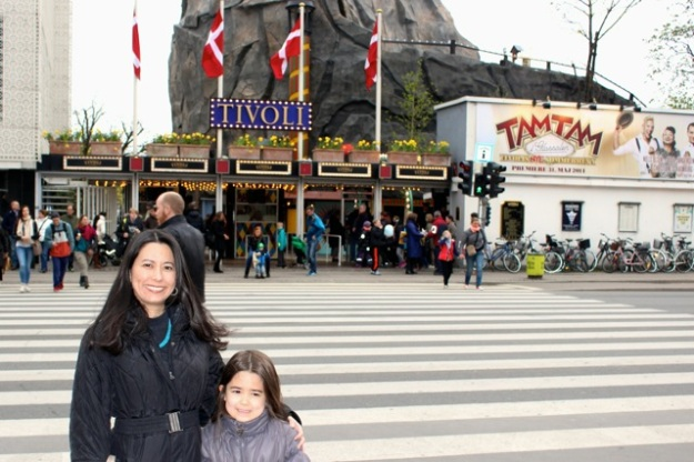 Mia and I in front of the entrance to Tivoli Gardens.