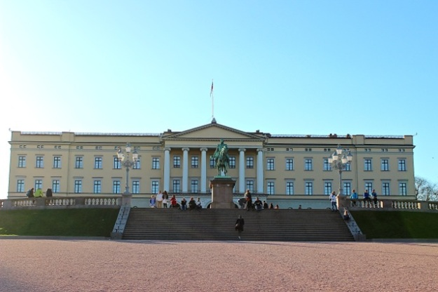 Our Norway in a Nutshell experience began in the city of Oslo.  This is the Royal House of Norway, the official residence of the current monarch.