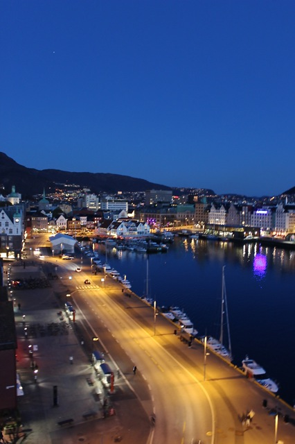 The beauty of Bergen, Norway at night!