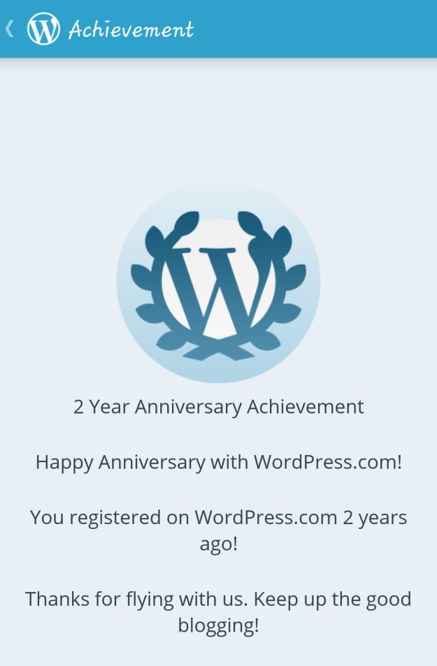 Celebrating 2 years of blogging today!