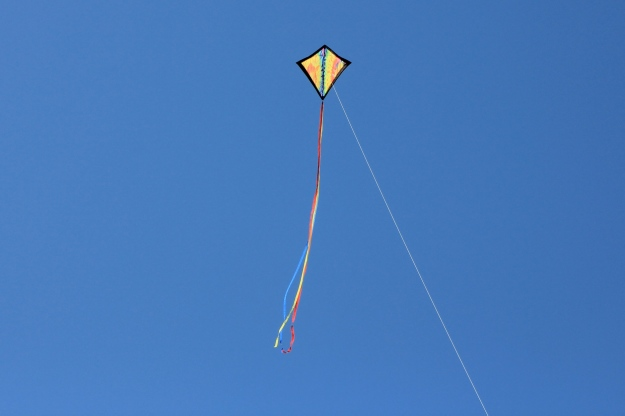 A simple kite flying at the beach (New Smyrna Beach, Florida).