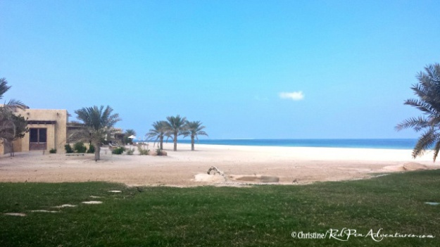 The lovely beach/villa area at the Al Yamm Villa Resort.