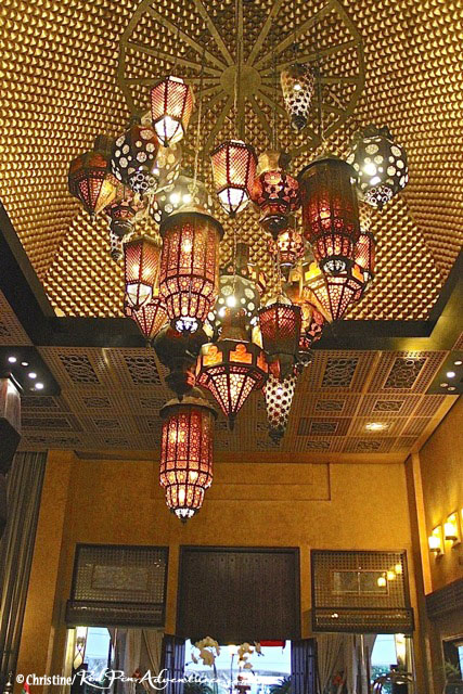 The breathtaking lanterns at the lobby of the Desert Islands Resort.