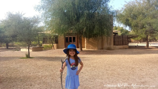 Mia found this cool walking stick at the Al Sahel Resort.