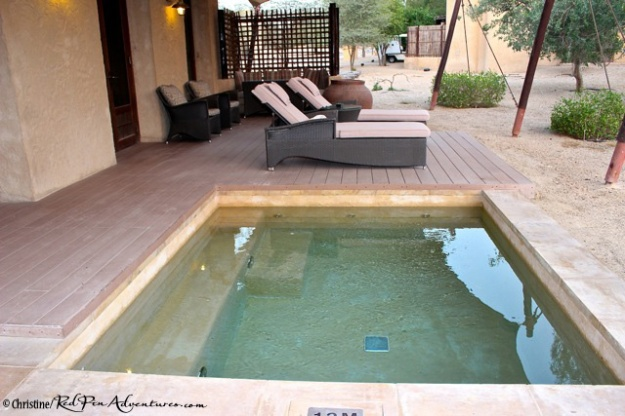 The back porch area of our villa at the Al Sahel Resort.