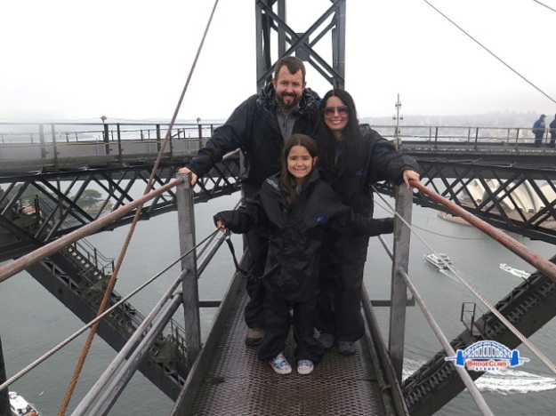 My family and I on one of the top sections of the bridge!