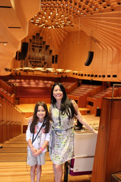 Mia and I enjoyed seeing the beautiful Concert Hall at the Sydney Opera House.