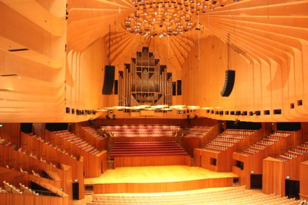 The stunning Concert Hall. This was the most majestic space we saw inside the Sydney Opera House.