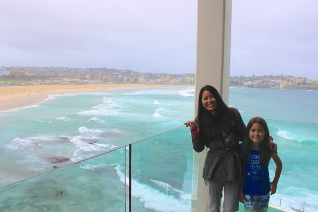 It was another gloomy day, but we really wanted to see Bondi Beach on our last full day in Sydney!