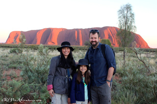 Ayers Rock with family