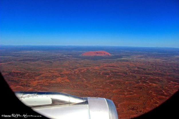 Ayers Rock from a Plane