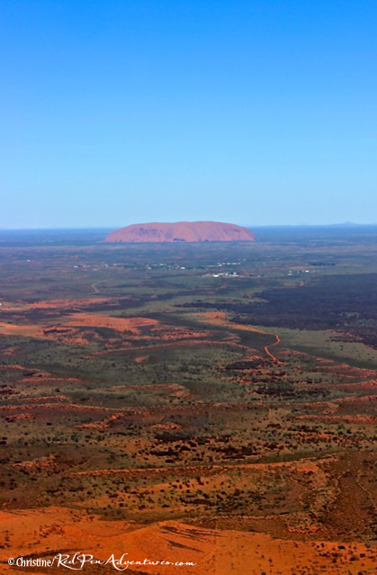 Ayers Rock from the plane