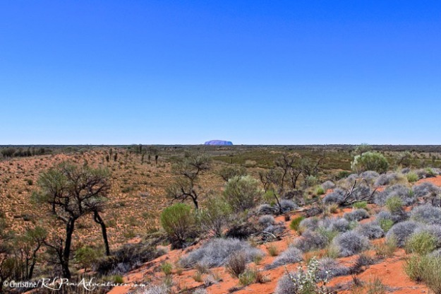 Ayers Rock in the Distance