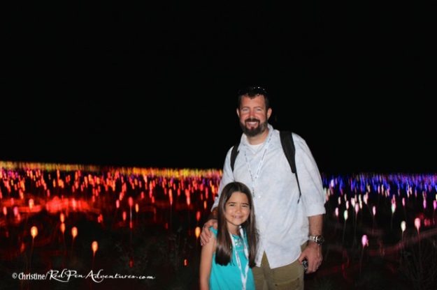 Danny and Mia in front of the Field of Light display. I think we all could of happily spent all evening strolling through the display!